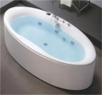 ZAPHIRO WHIRLPOOL WITH 6 JETS C/W PANEL & BATH WASTE