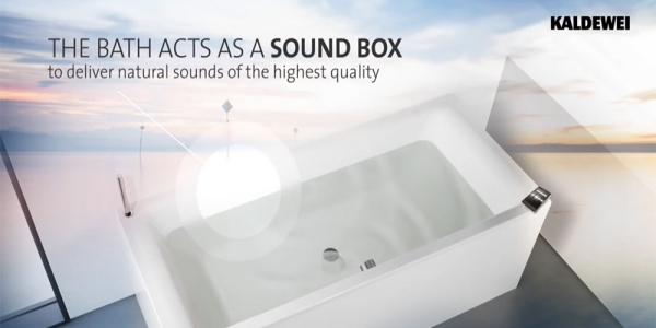 Kaldewei Sound Wave - The innovative bathroom audio system